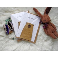 Handmade congratulatory card with funny bear