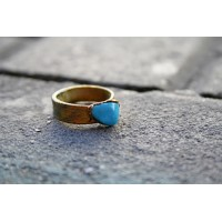Ring with a blue stone - turquoise