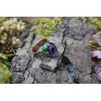 Original ring with amethyst