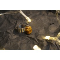 Small ring with a tiger's eye stone