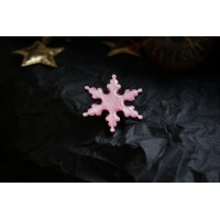 A wooden brooch - snowflake