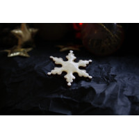 A snowflake - brooch