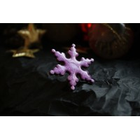 A snowflake brooch