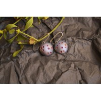 Round shape earrings, unusual color