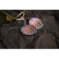 Earrings round shape, made of titanium