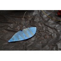 Earrings-fishes, made by hand from titanium