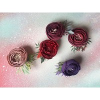 Handmade original hair clips on elastic bands