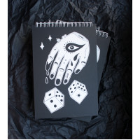 Notebook with black and white stylish covers