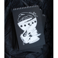 Notebook with black sheets