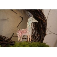 Metal brooche in the form of a unicorn