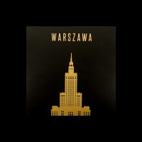 Sticker on the memory of Warsaw, with the image of Palace of culture and science