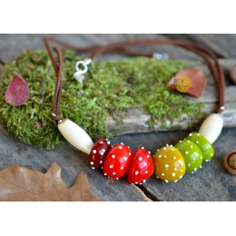 Unique necklace, in the form of mushrooms
