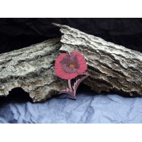 Brooch in the form of sprig of a poppy flower