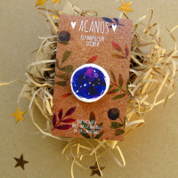 Brooch made of ceramics with the image of a constellation