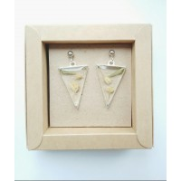 Original triangle earrings, on a transparent background