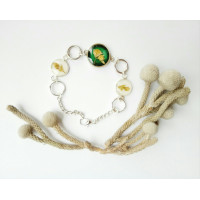 Bracelet made from natural flowers