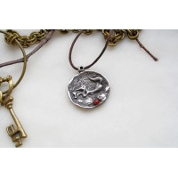 Laconic and fabulous pendant, with the image of a cartoon fox