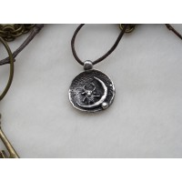 Laconic and fabulous pendant, with the image of a cartoon bull