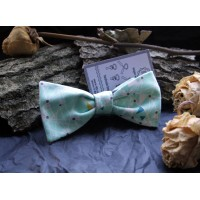The bow tie in soft green colour
