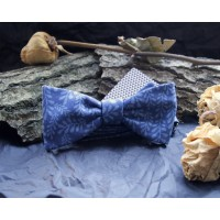 Blue koloured bow tie