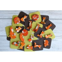 Charming little broches-foxes