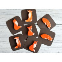 Charming little foxes-broches