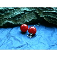Weightless red earrings