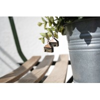 "Designer  wooden Earrings ""Houses"""