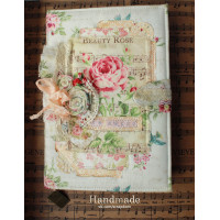 Delicate shebby notebook
