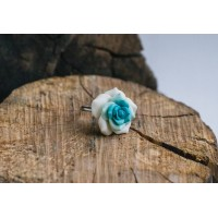 Handmade ring, in the form of a rose