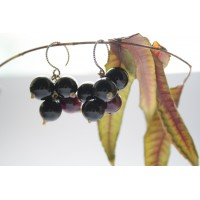 Earrings in the form of chestnuts.